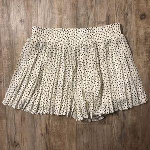 Fabrik Black and White Star Printed Flowy Shorts